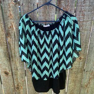 Claudia Richard blouse short sleeve junior large